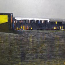 Landscape, oil on canvas, 130 W x 130 H cm, 2014
