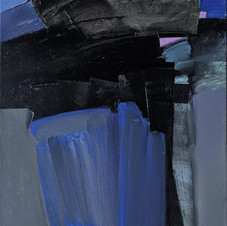 Flamingo. Oil on canvas, 40 W x 70 H cm. 2020