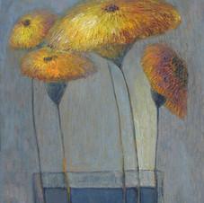 Still liSunflowers. oil on canvas, 45 W x 60 H cm. 2014