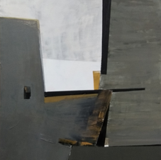 Crossroad. oil on canvas, 70 W x 100 H cm. 2021