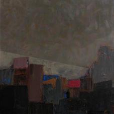 Suburbs 1 . oil on canvas. 75х75 сm. 2008
