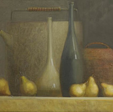 Still life with pears. oil on canvas, 80 W x 60 H cm. 2011