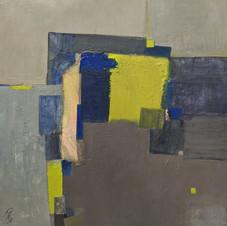 Lemon paradise. Oil on canvas. 80 W x 80 H cm, 2020