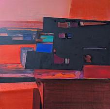 Landscape-1, oil on canvas, 70 W x 80 H cm, 2020