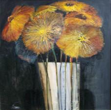 StilFlowers. oil on canvas, 50 W x 50 H cm, 2013