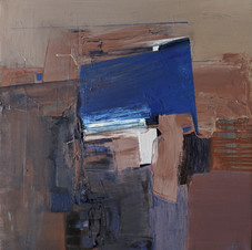 A piece of sky. Oil on canvas, 55 W x 60 H cm, 2021