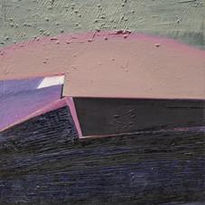 Lake. Oil on canvas, 45 W x 65 H cm, 2018