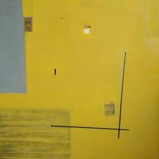 Corner, oil on canvas, 100 W x 110 H cm, 2019
