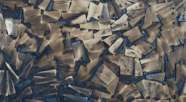 Structure. Wood, wax. 60H x 60W cm. 2014.