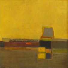 Yellow 1. (Sunny days), cardboard, oil. 70 W x 70 H cm, 2014 cm
