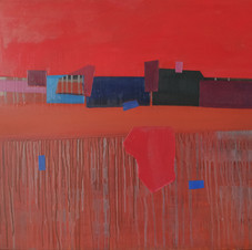 Juin, oil on canvas, 80 W x 70 H cm, 2020
