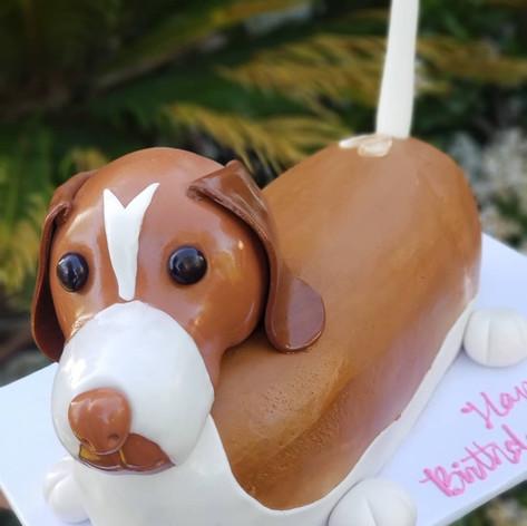 Weiner Dog Cake