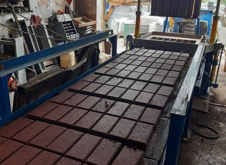 В г. Балее запущено после модернизации производство тротуарной плитки и других изделий из бетона