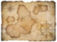 Old pirates parchment treasure map isola