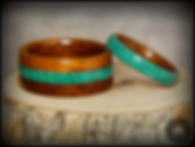 Bentwood_Rings-_Rosewood_with_Malachite_