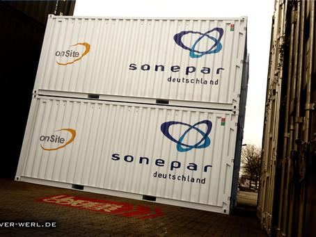 Beschriftung Container