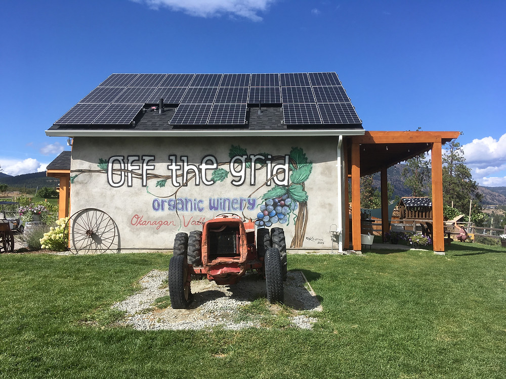 Off the grid organic winery and tractor