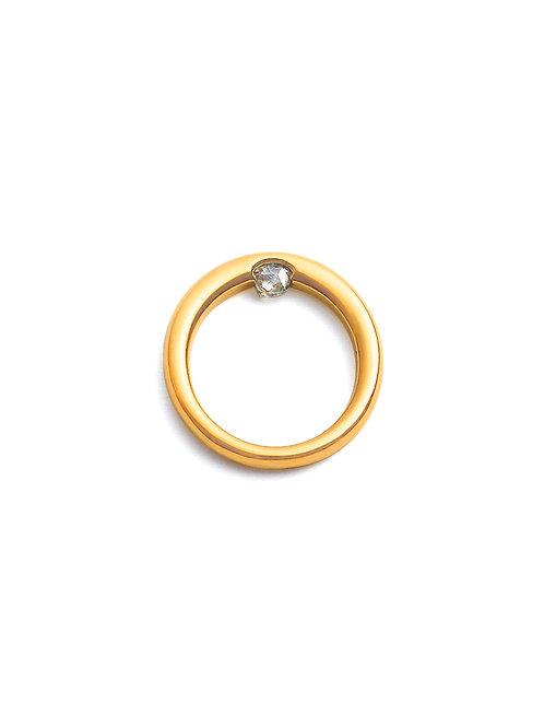 touch raw - K18YG, 0.2ct raw diamond