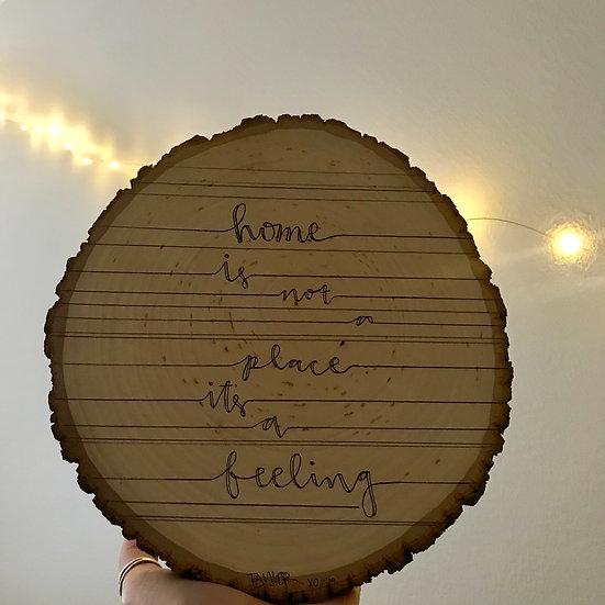"""Home"" wood piece"