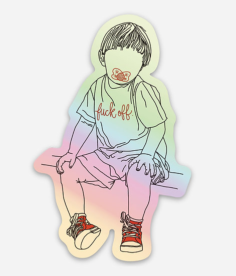 Statement Toddler Holographic Sticker