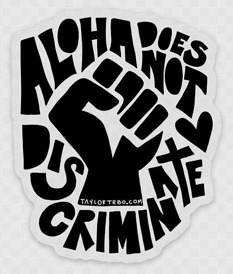 Aloha sticker #BLM