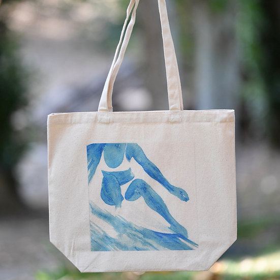 """""""cheater 5"""" gusseted cotton tote bag"""