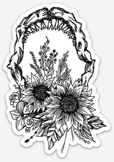 Flower Jaw Sticker