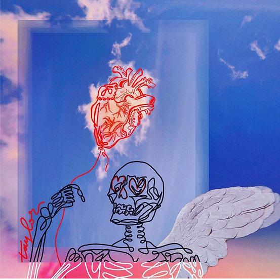"""The Hopeless Romantic Angel"" Poster Print"