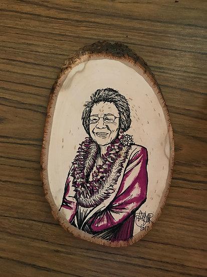 Personalized 1-2 Person 5X8 Wood Portrait