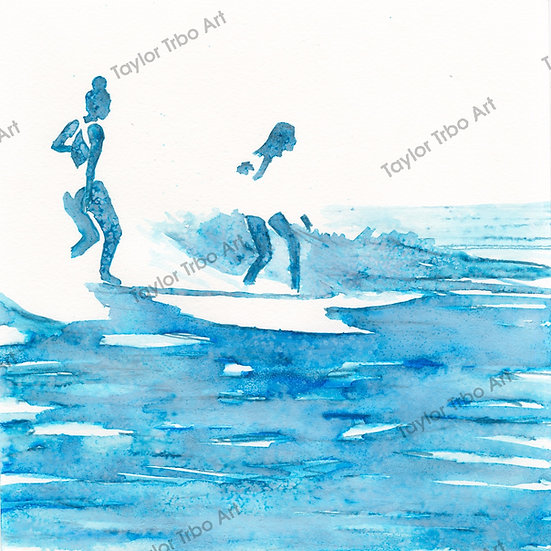 """Same wave"" print"