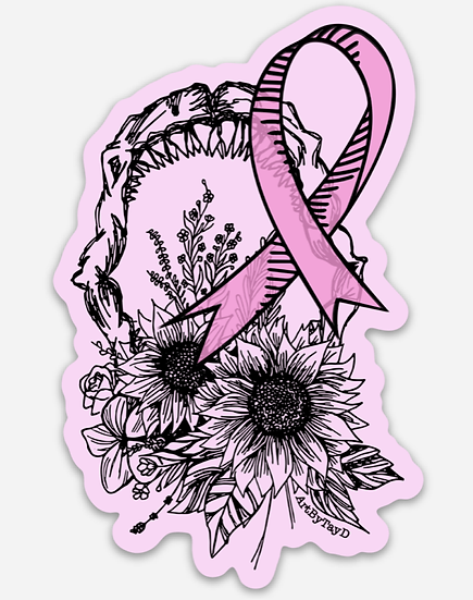 Pink Jaw Sticker