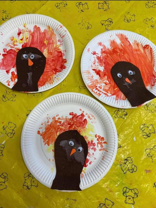 Paper plate Thanksgiving Turkey