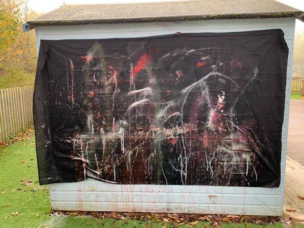 Piglets Firework Splatter Painting