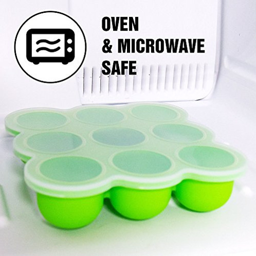 Makerstep BPA Free Reusable Baby Food Freezer Storage Container