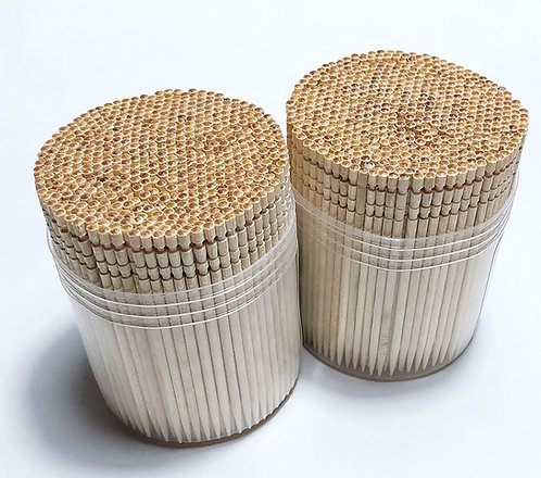 Makerstep Ornate Wooden Toothpicks with Holder, 1000 pcs