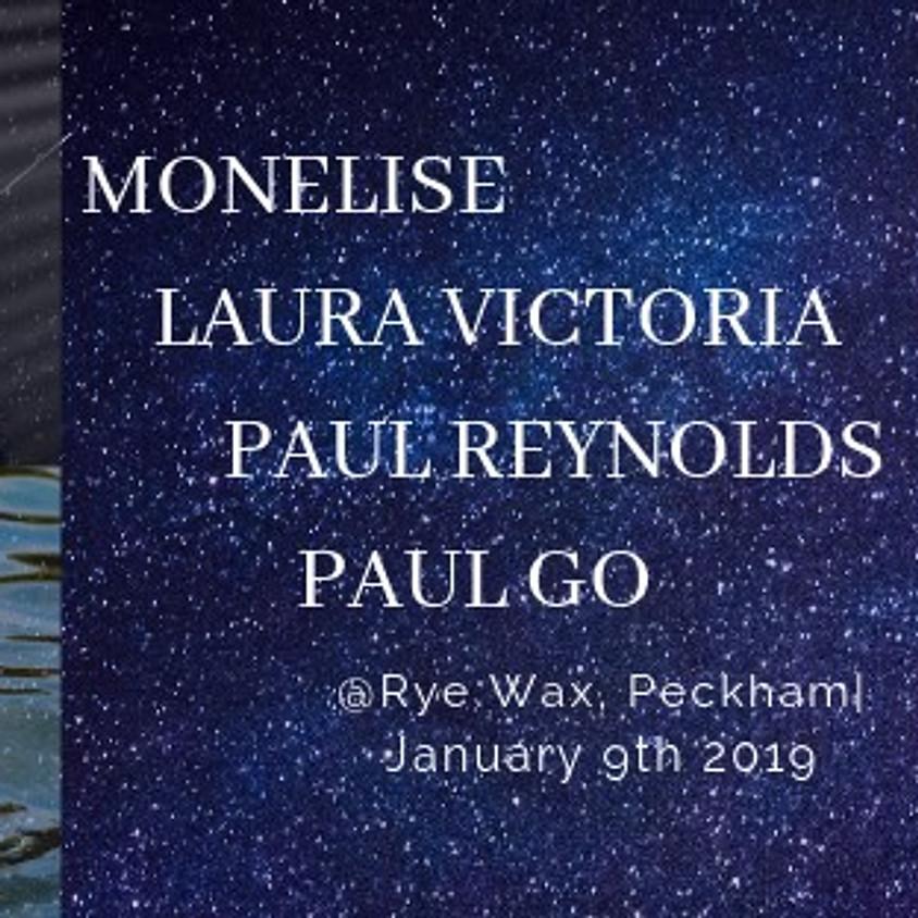 Monelise, Laura Victoria, Paul Reynolds & Paul Go at Rye Wax