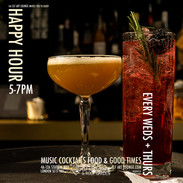 Happy Hour Every Weds + Thurs (5pm-7pm)
