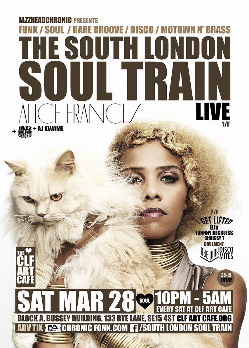 Sat Mar 28 - South London Soul Train