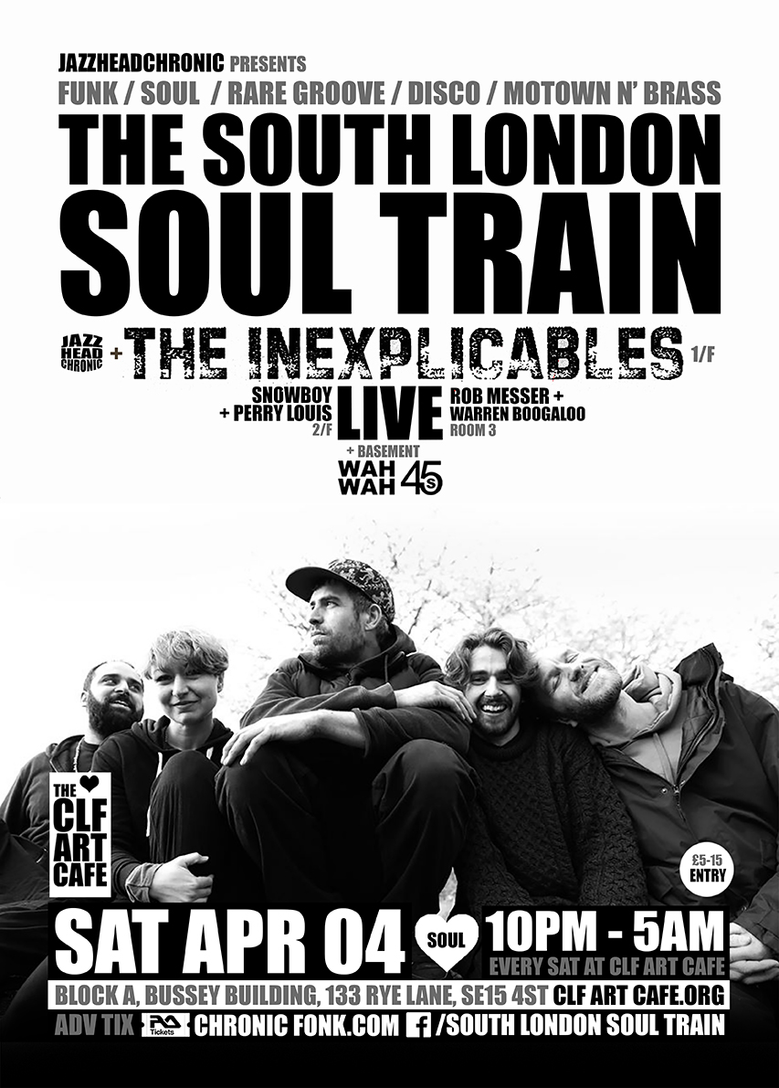 Sat Apr 04 - South London Soul Train