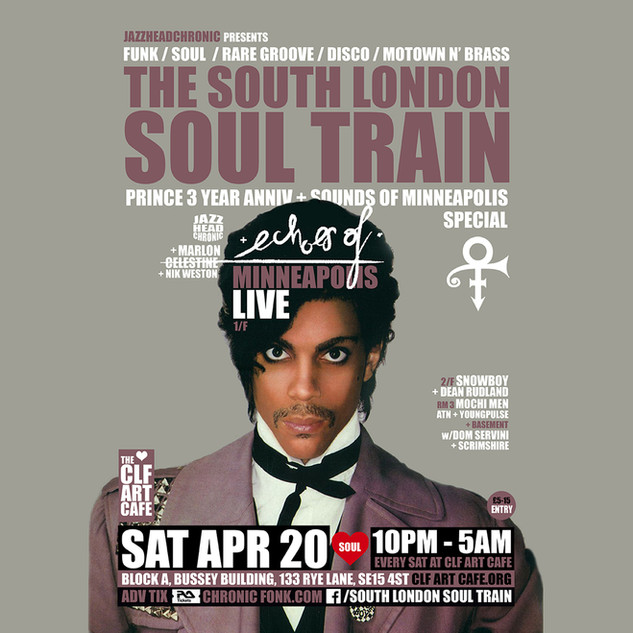 Sat Apr 20 -The South London Soul Train