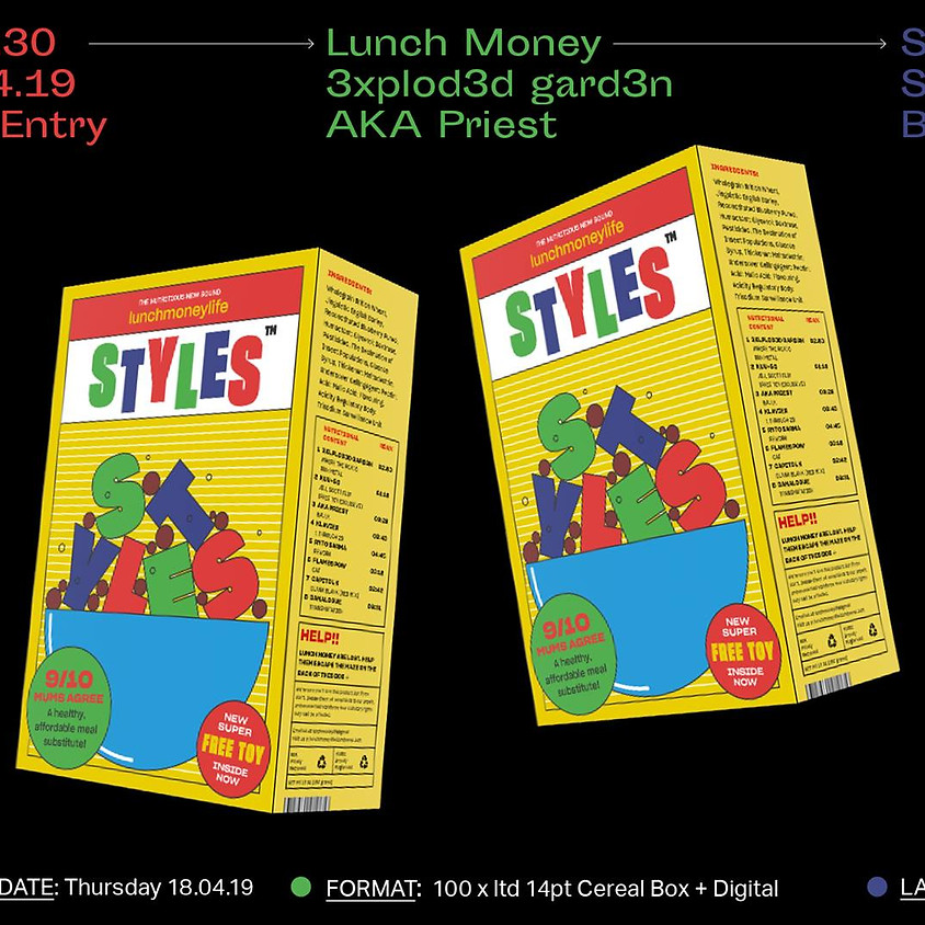 Cereal Box Launch - lunchmoneylife Styles™