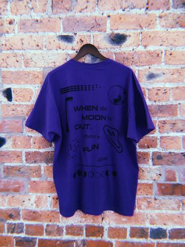 0342abef Black Acid - Purple Moon Tee - Merch / Tshirts
