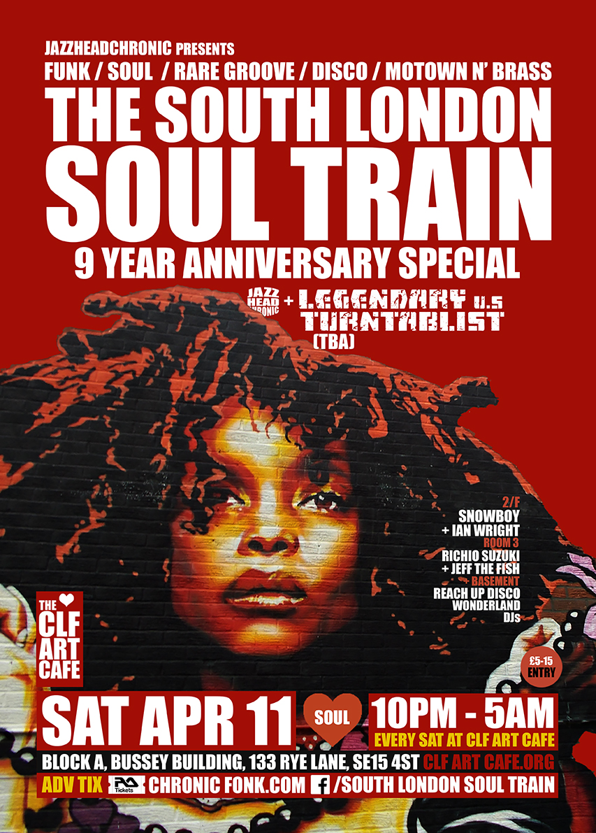Sat Apr 11 - South London Soul Train