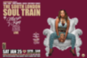 Sat Jan 25 - The South London Soul Train with Marva King (Live)