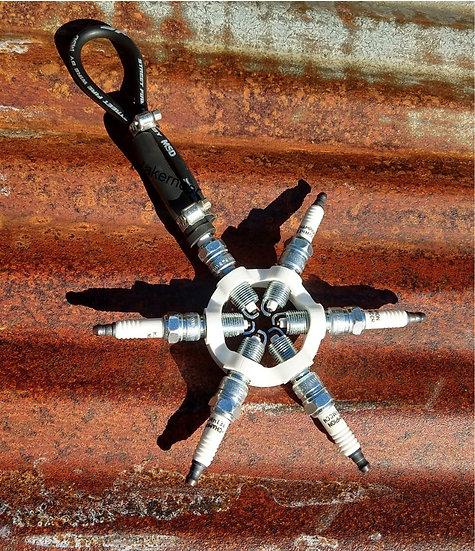 Spark Plug Snowflake Ornament