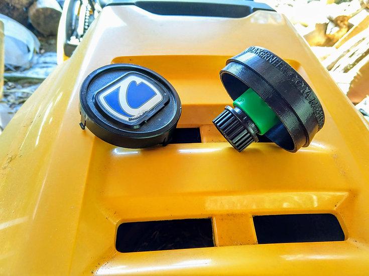 Steering Wheel Mounted Deck Wash Hose Adapter Holder