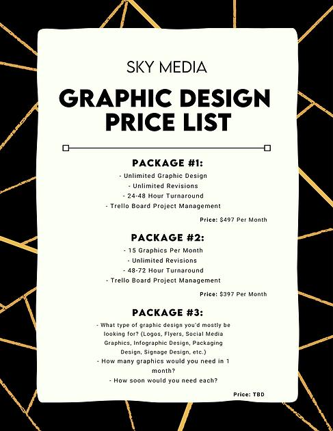 Sky Media - Graphic Design  Price List.p
