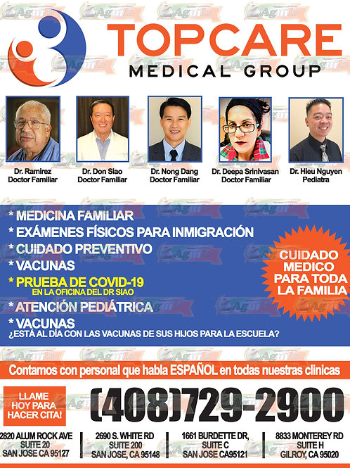 1 Full Page REGULAR Color AD for ONE week/ 1 Pagina Com. Color Regular 1 Semana