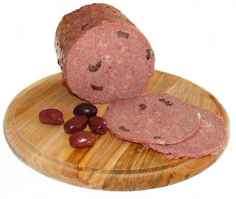 Beef Bologna withKalamata Olives Madax Ham Maker