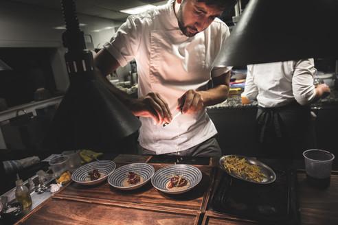 Chef Pedro Bargero at the pass